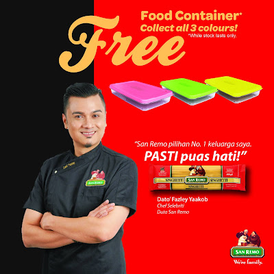 San Remo Spaghetti Free Food Container