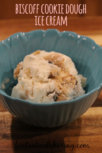 Biscoff Cookie Dough Ice Cream // Safe-to-eat Biscoff cookie dough in