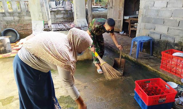 Peduli Kesehatan, TNI Terus Ajak Warga Jaga Kebersihan