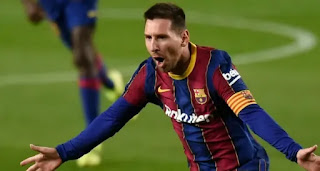 Leo Messi scores his goal number 650 for Barcelona after Bilbao win