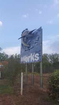 Swordfish billboard in Bees Creek | Australian Roadside Attractions