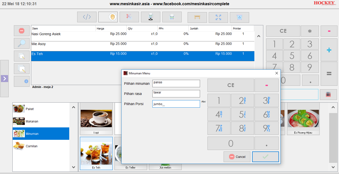software restoran lengkap waiters kasir kitchen display admin