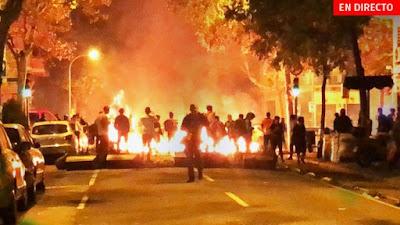 actos-vandálicos-fin-manifestación-Barcelona-sentencia-procés