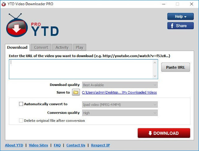 Screenshot YTD Video Downloader Pro 5.9.15.11 Full Version