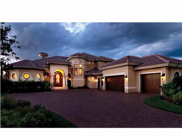 Mediterranean Modern House Plans : DHSW75052   House ...
