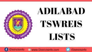 List of Adilabad TS Social welfare Residential Schools