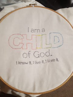 I Am A Child of God cross stitch