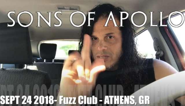 SONS OF APOLLO: Μήνυμα Jeff Scott Soto για το live της Αθήνας