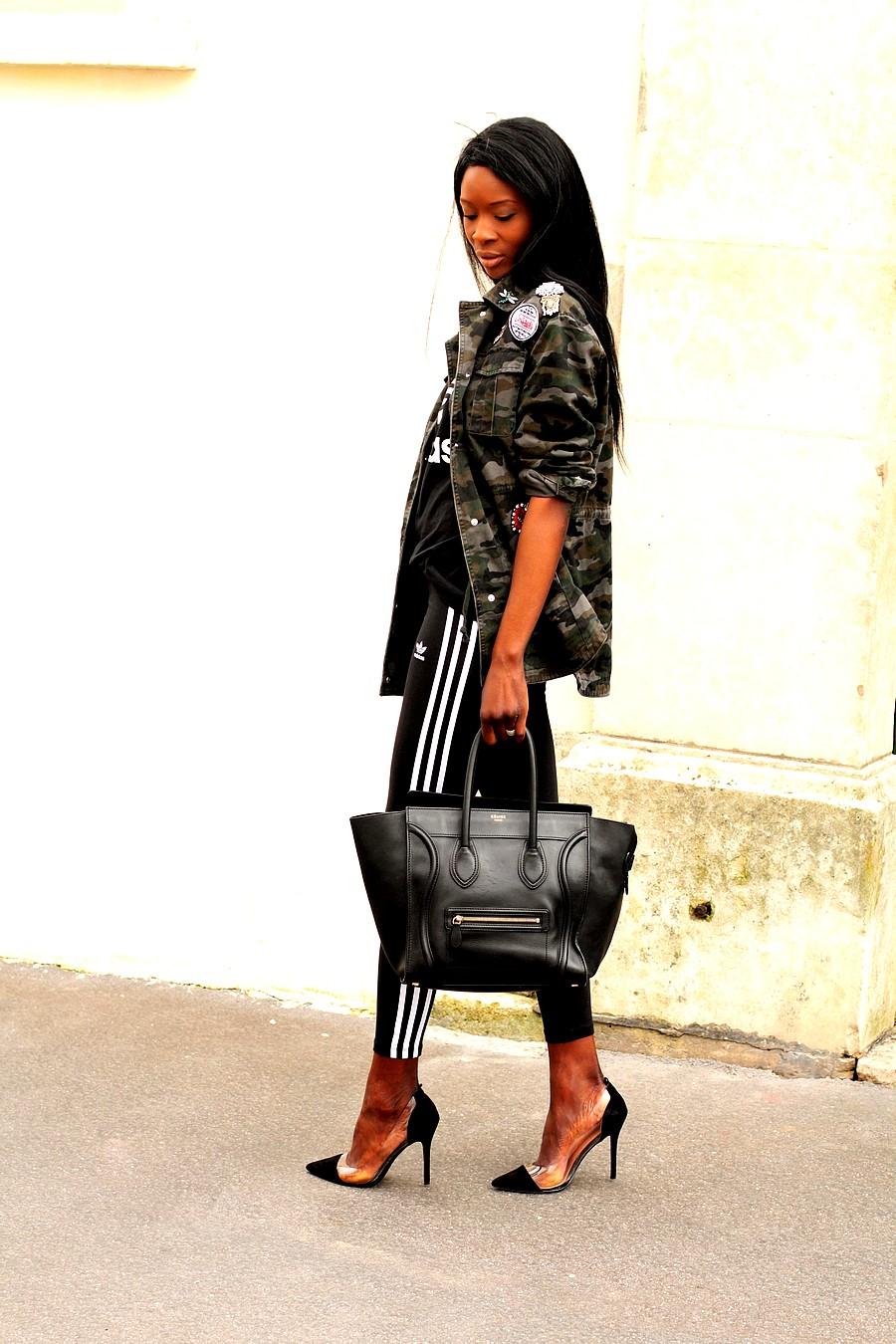 idee-look-legging-adidas-sac-celine-luggage-parka-kaki