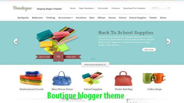 Boutique Responsive Marketplace - Responsive Blogger Template