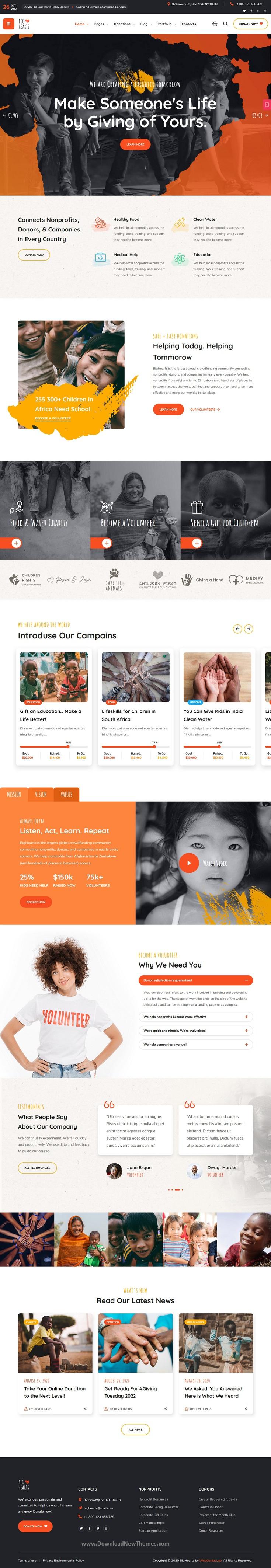 Charity & Donation WordPress Theme
