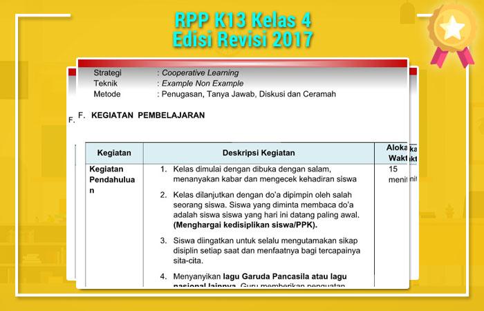 RPP K13 Kelas 4 Edisi Revisi 2017