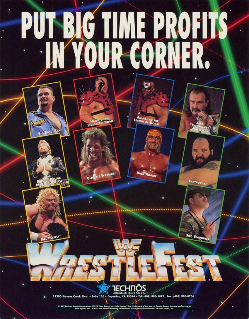 WWF+arcade+game+retro+portable+2d+fight+art+flyer