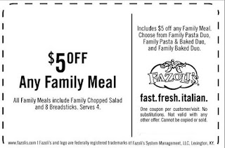 image relating to Fazoli's Printable Coupons referred to as Fazolis Printable Discount coupons July 2017 - Retail Retail store Discount codes
