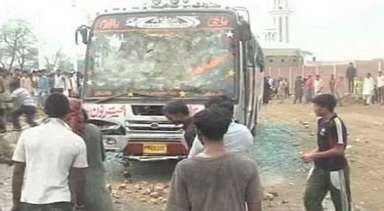 Mowed Down Two Youth By Passenger Bus In Pakistan