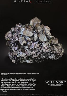 mineral, calendario, calcosina