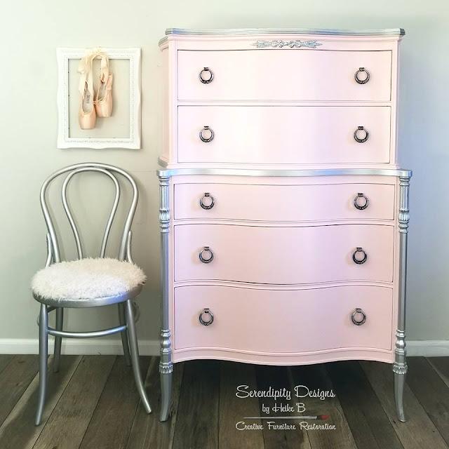 pink dresser