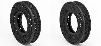 Llantas o neumáticos  muy artísticos y reciclaje