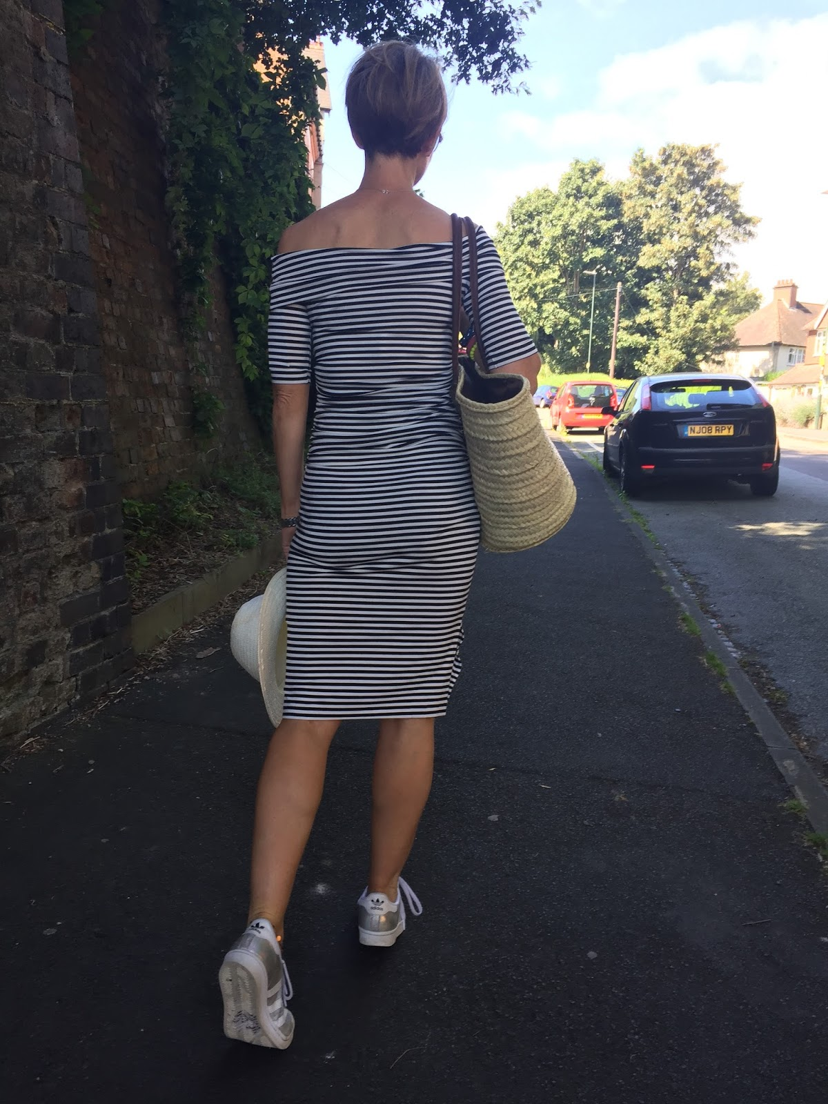 The Baukjen striped off the shoulder midi dress - Perfection