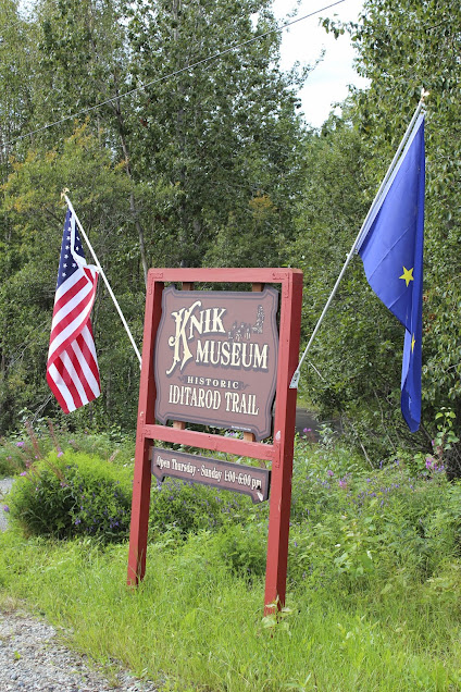 Sign for the Knik Museum on Knik-Goose Bay Road.