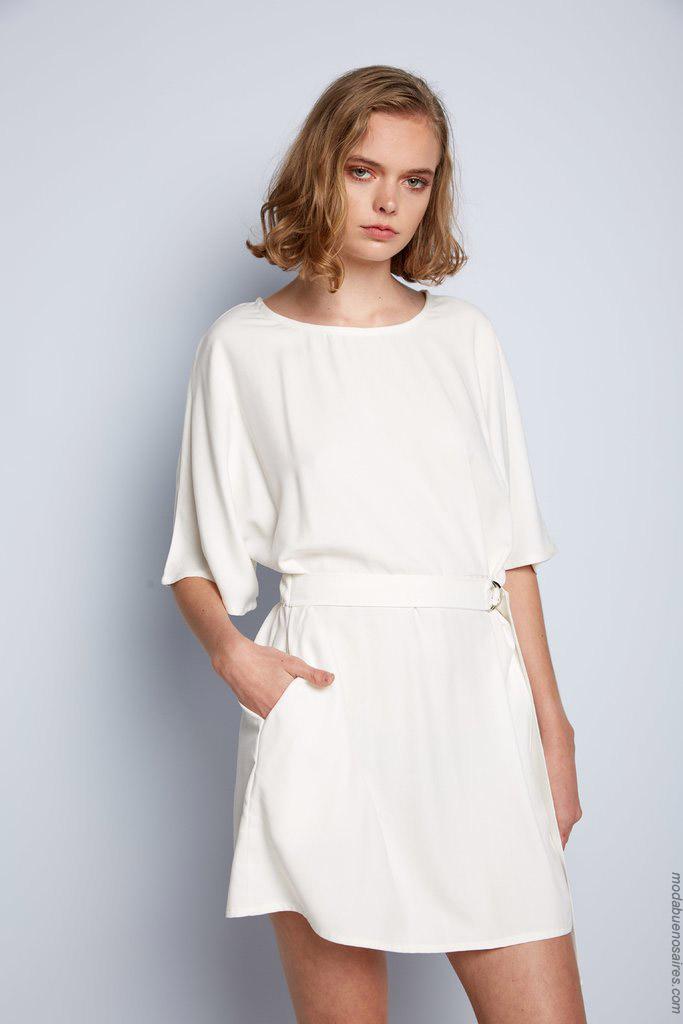 Vestidos cortos blancos primavera verano 2020.