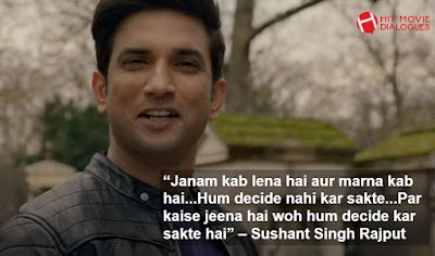Dil Bechara Best Dialogues, Sushant Singh Rajput Dialogues from Dil Bechara
