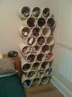 Ideas con tubos de PVC - organizador de zapatos