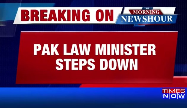 Pakistan's law minister quits