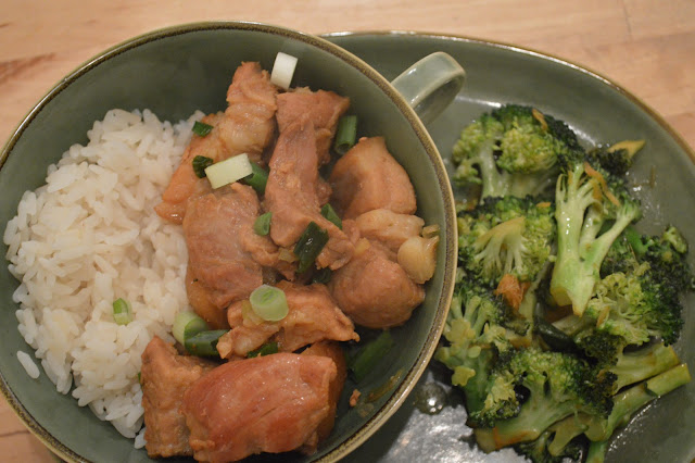Gordon Ramsays Braised Red Belly Pork with Stir Fry Broccoli