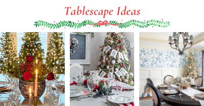 ideas for decorating your table for Christmas collage photo