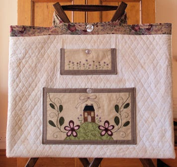 Stitching Cow Quilter S Bag Pattern For Cutting Mat