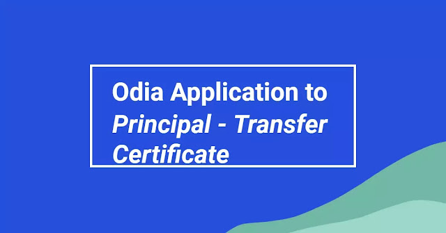 odia application principal, odia application college principal, how to write odia application to principal, leave application to principal in odia