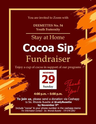 Cocoa Sip fundraiser for Deemettes no. 54 Youth Fraternity