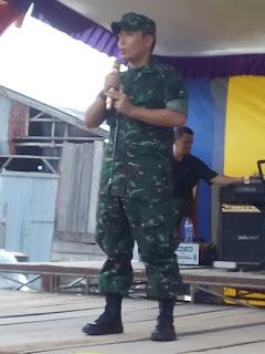 Kodim 0402 OKI Gelar Bazar Pasar Murah di Desa Kayulabu Dalam Rangka Peringatan HUT TNI Ke-72