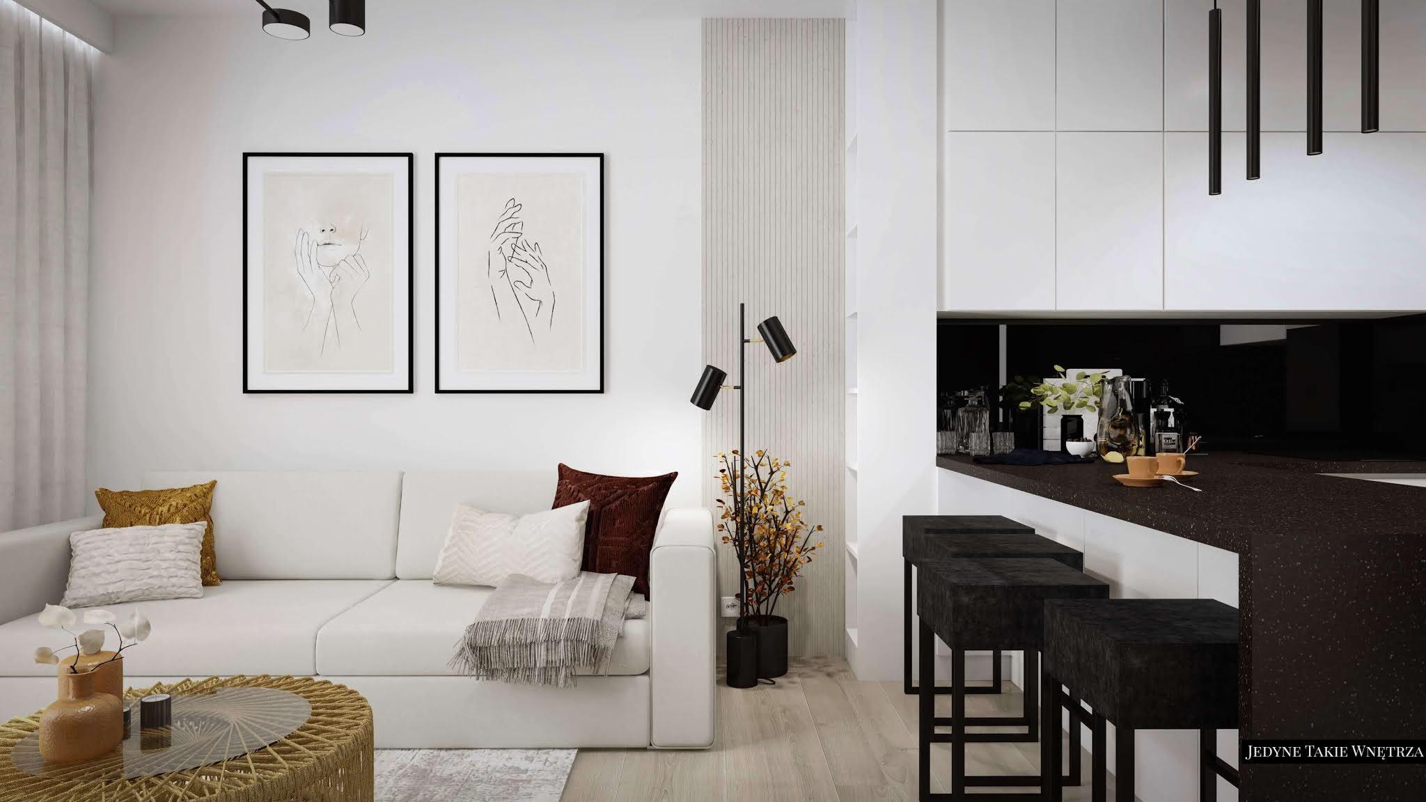 Przeróbki w mieszkaniu deweloperskim | Projektowanie wnętrz Gdańsk