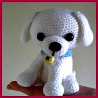 Perrito blanco amigurumi