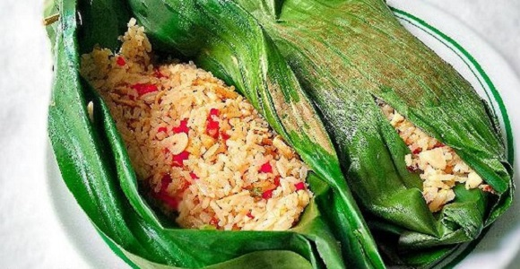Resep Nasi Bakar Ayam Suwir Pedas Enak