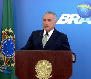 Temer chama de 'mentirosa e leviana' declaração de Sérgio Machado