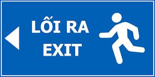 Bảng báo thoát hiểm exit bằng Alu chất lượng cao