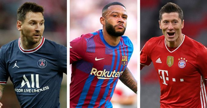 Barcelona forwar Memphis Depay on 5 players with most goal contributions in 2021