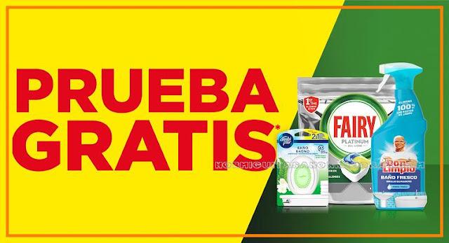 Prueba gratis Fairy Platinum para lavavajillas, Don Limpio en spray y Ambipur Baño