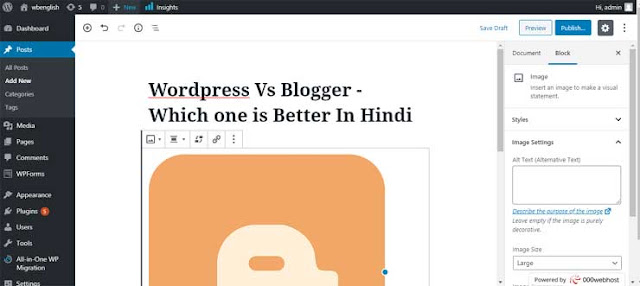 Wordpress Vs Blogger - Which one is Better In Hindi