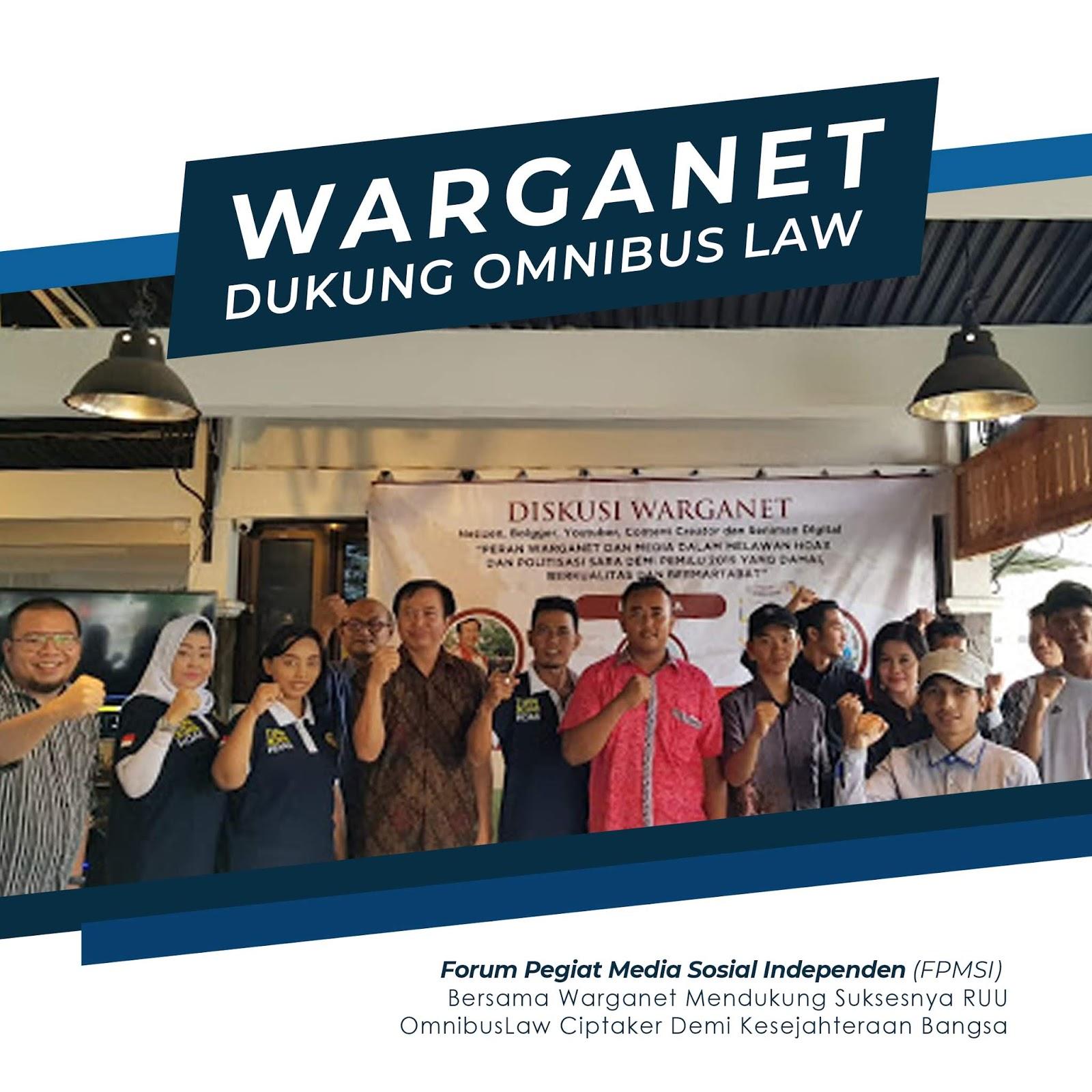 FPMSI Bersama Warganet Semarang Dukung RUU Omnibus Law Cipta Kerja