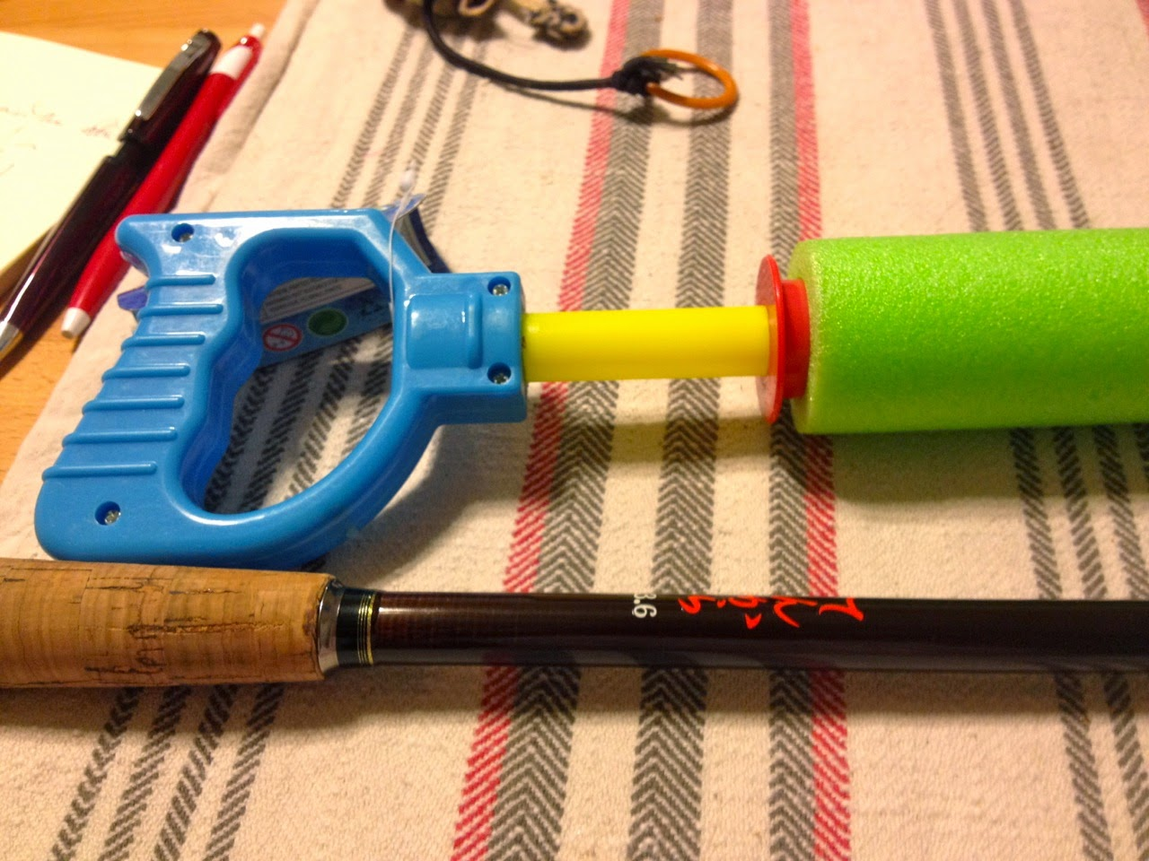 How To A Tenkara Rod Holster From A Squirt Gun, 5  A Fish In School-6841