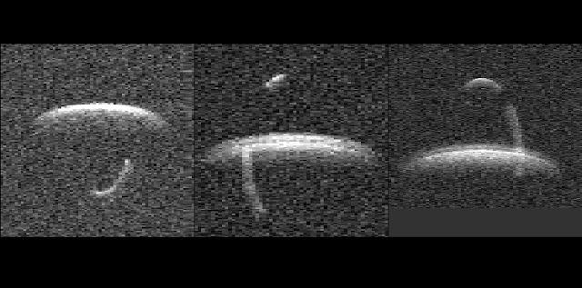 Radar images of 1999 KW4 taken at Goldstone. Credit: NASA