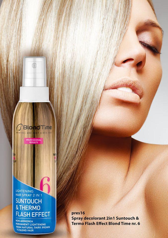 Spray decolorant efect Suntouch şi Blond Time
