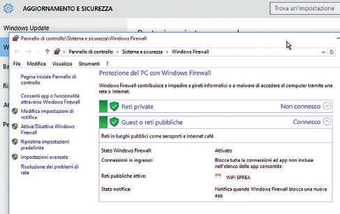 come attivare il firewall in windows 10