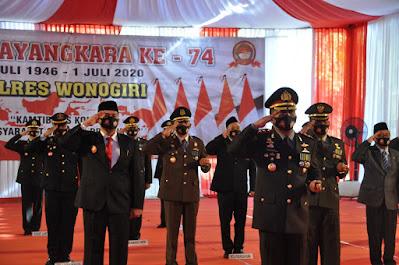 Sinergitas yang Baik dengan TNI Berbuah Kado Istimewa Bagi Polres Wonogiri di Hari Bhayangkara