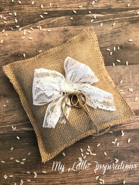 Cuscinetto Porta Fedi Rustico Romantico MLI - con fedi