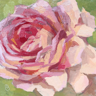 #85 'Rose in Bloom' 6×6″